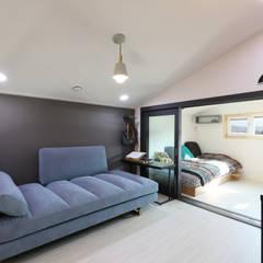 울산미호집 2층: 주택설계전문 디자인그룹 홈스타일토토의  방