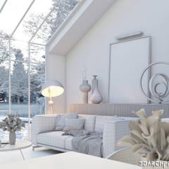 Sunny Room Interior & Landscape Visualization:  Living room by 3DArchPreVision