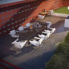 Вид на террасу 2-ого этажа: Tерраса в . Автор – CNTR Architects