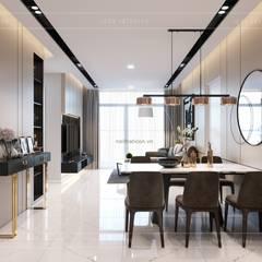 Thiết kế nội thất chung cư 2 phòng ngủ hiện đại:  Phòng ăn by ICON INTERIOR
