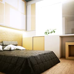 Skandi House:  Kamar tidur kecil by r.studio