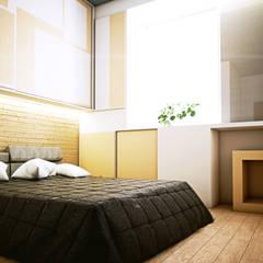 Skandi House: Kamar tidur kecil oleh r.studio,
