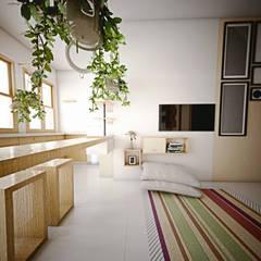 Interior Ruang Keluarga:  Dapur by r.studio