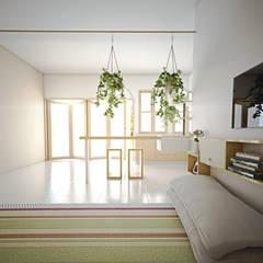 Skandi House: Ruang Keluarga oleh r.studio,