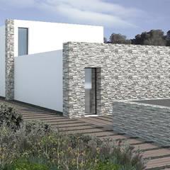 Fachada Acceso: Casas unifamilares de estilo  de Vidal Molina Arquitectos