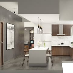 LUXURIOUS MASCULINE APARTMENT @ SEASON CITY, WEST JAKARTA:  Dapur built in by PT. Dekorasi Hunian Indonesia (DHI)
