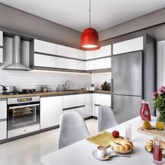ANTE MİMARLIK  – Tarabya Konutları:  tarz Mutfak üniteleri