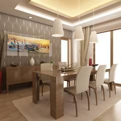 ANTE MİMARLIK  – Hikmet Bey Villa:  tarz Yemek Odası