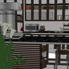 VIVIENDA MULTIFAMILIAR - BARRANCO - LIMA - PERÚ.: Cocinas equipadas de estilo  por juan carlos milla miranda