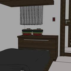VIVIENDA MULTIFAMILIAR - BARRANCO - LIMA - PERÚ.: Dormitorios de estilo  por juan carlos milla miranda
