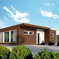 Prefabricated home by casasfrau, Mediterranean لکڑی Wood effect