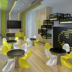 Edificio Arnaldo Marquez: Salas de entretenimiento de estilo  por K'ANKA