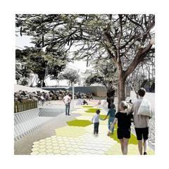 Acondicionamiento Barranco Pinoseco: Jardines delanteros de estilo  de SP_Arquitectura