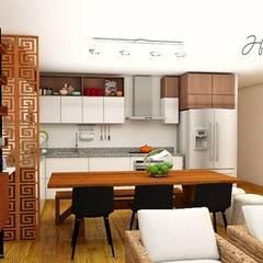 Tủ bếp theo Farach Interior Design,