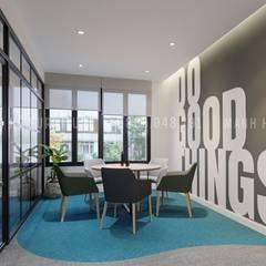 Khu vực thư giãn uống trà, cà phê cho mọi người :  Phòng học/Văn phòng by Công ty TNHH Nội Thất Mạnh Hệ