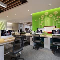 Nội thất văn phòng khá lớn có nhiều không gian cho nhân viên làm việc:  Phòng học/Văn phòng by Công ty TNHH Nội Thất Mạnh Hệ