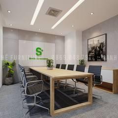 Nội thất phòng họp được thiết kế khá đơn giản, rộng rãi và thoáng đãng:  Phòng học/Văn phòng by Công ty TNHH Nội Thất Mạnh Hệ