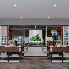 Căn phòng có hệ thống tủ lớn để lưu trữ hồ sơ:  Phòng học/Văn phòng by Công ty TNHH Nội Thất Mạnh Hệ