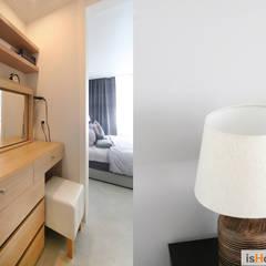 내추럴한 감성이 담긴 부천 아파트 인테리어 : 이즈홈의  드레스 룸