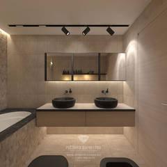Реконструкция дома в Швейцарии: Ванные комнаты в . Автор – Студия дизайна интерьера Руслана и Марии Грин