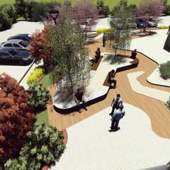 Lina Tasarım – KAYSERİ LOFT PEYZAJ PROJESİ:  tarz Bahçe