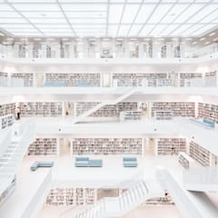 stadtbibliothek stuttgart:  Geschäftsräume & Stores von sebastian kolm architekturfotografie