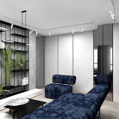 pokój dzienny w apartamencie: styl , w kategorii Salon zaprojektowany przez ARTDESIGN architektura wnętrz