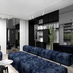 projekt salonu w lekko industrialnym stylu: styl , w kategorii Salon zaprojektowany przez ARTDESIGN architektura wnętrz