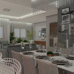 Projeto Luminotécnico para residência: Salas de jantar  por Studio G - Arquitetura e Design