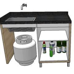 Cucina attrezzata in stile  di Studio G - Arquitetura e Design