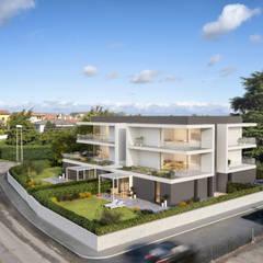 Casas multifamiliares de estilo  por studio conte architetti