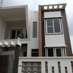 Exterior :  Passive house by GMDS Gyan Manjusha Design Studio
