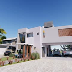 Fachada 2: Casas de estilo  por Módulo 3 arquitectura