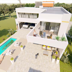 Contra Frente 5: Casas de estilo  por Módulo 3 arquitectura