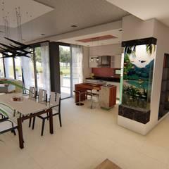 Casa JG: Pasillos y recibidores de estilo  por Módulo 3 arquitectura