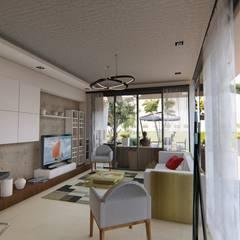 Casa JG: Livings de estilo  por Módulo 3 arquitectura