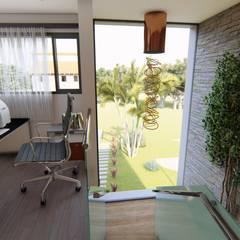 Casa JG: Estudios y oficinas de estilo  por Módulo 3 arquitectura