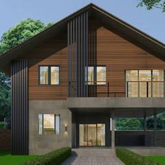 Houses by บริษัท พี นัมเบอร์วัน ดีไซน์ แอนด์ คอนสตรัคชั่น จำกัด