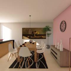 casa habitación interés social: Comedores de estilo  por GóMEZ arquitectos