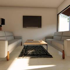 اتاق نشیمن توسطGóMEZ arquitectos