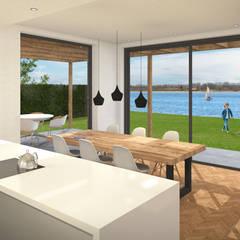 Villa met zwembad Lent:  Keuken door ECO architecten