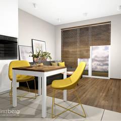 Mieszkanie Bemowo, Warszawa: styl , w kategorii Jadalnia zaprojektowany przez ANNA HIRSZBERG 'HIRSZBERG' PRACOWNIA ARCHITEKTONICZNA
