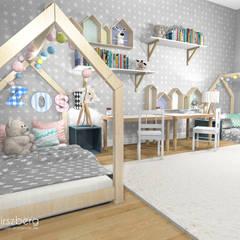 ห้องนอนเด็ก by ANNA HIRSZBERG 'HIRSZBERG' PRACOWNIA ARCHITEKTONICZNA