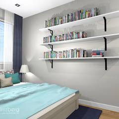 Mieszkanie Mokotów, Warszawa: styl , w kategorii Sypialnia zaprojektowany przez ANNA HIRSZBERG 'HIRSZBERG' PRACOWNIA ARCHITEKTONICZNA