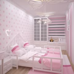 Nursery/kid's room by VOGUE MİMARLIK ATÖLYESİ
