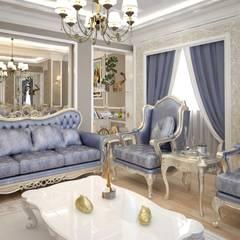 VOGUE MİMARLIK ATÖLYESİ – Nihat bey dairesi:  tarz Oturma Odası