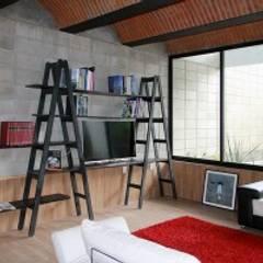 Salas de estilo  por Apaloosa Estudio de Arquitectura y Diseño,