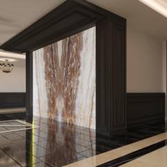 Rengin Mimarlık – Bina Giriş Tasarımı - Yenişehir/MERSİN:  tarz Koridor ve Hol