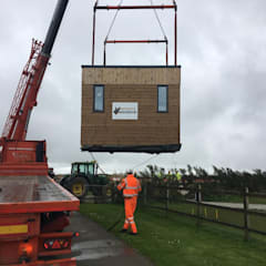 What are the benefits of modular construction?:  Prefabricated home by Building With Frames