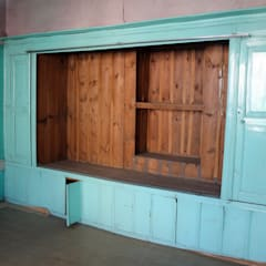Restorizm Mimarlık Restorasyon Proje Taah. Ltd. Şti – Ahşap Dolap:  tarz Oturma Odası